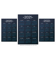 french calendar 2010-2021-2022 template vector image vector image