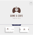 game cafe logo design concept icon element vector image