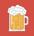 glass beer and foam vector image