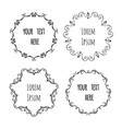 hand drawn wreath decorative frames for vector image