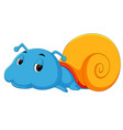 happy snail crawling vector image vector image