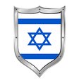 Israel flag button vector image vector image