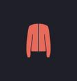 jacket computer symbol vector image vector image