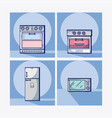 kitchen equipment collection vector image