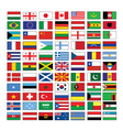 multinational flags vector image vector image
