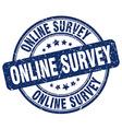online survey stamp vector image vector image