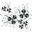 Ornament in black 06 vector image vector image