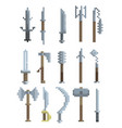pixel art weapon vector image vector image