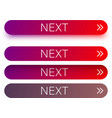 red next web buttons with arrow isolated on white vector image