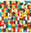 Retro seamless pattern with circles vector image