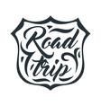 road trip emblem on white background vector image