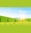 rural landscape farm agriculture vector image