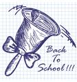 School hand bell vector image vector image