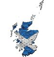 Scotland map on a brick wall vector image