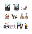 set of beauty salon people isolated on vector image