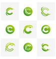 set of letter c logo icon design template vector image vector image