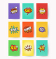set of promotional labels with lettering sale vector image vector image