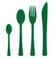 silhouette cutlery set vector image