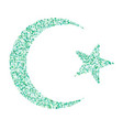 star and crescent - symbol of islam icon for apps vector image