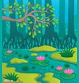 swamp theme image 2 vector image