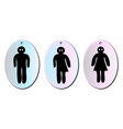 three toilet signs vector image