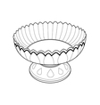 tray with pedestal out line vector image vector image