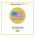 veterans day vector image vector image