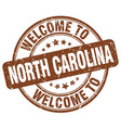 welcome to north carolina vector image vector image
