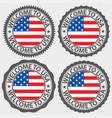 welcome to usa label set vector image