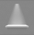 white shelf isolated vector image
