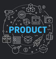 black line flat circle product vector image