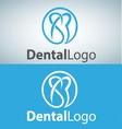 dental logo 2 vector image