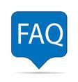 faq icon on white background faq sign flat vector image