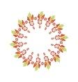 Floral frame vector image