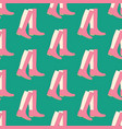 boots shoes pattern vector image