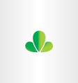 eco green leaves symbol vector image