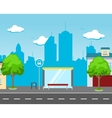 Bus Station in the Street vector image
