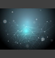 3d abstract polygonal space blue background