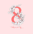 8 march women s day greeting card vector image vector image