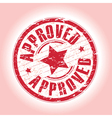 approved red vector image