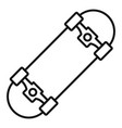 awesome skateboard icon outline style vector image