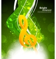 Background with g-clef vector image vector image