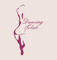 beautiful dancing woman vector image vector image