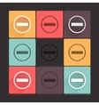 Beautiful pure stop sign icon set Simple flat vector image