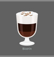 bicerin traditional italian hot drink cartoon icon vector image vector image