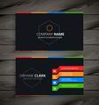 black dark business card vector image vector image