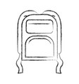 blurred thick silhouette of backpack icon vector image