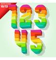 Broken colorful alphabet vector image vector image