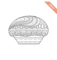 cartoon hand drawn cupcake vector image