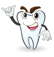 cartoon tooth vector image vector image